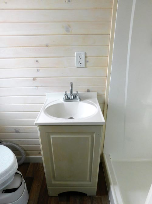 Bathroom Sink - Little Shack Out Back by Tiny Idahomes