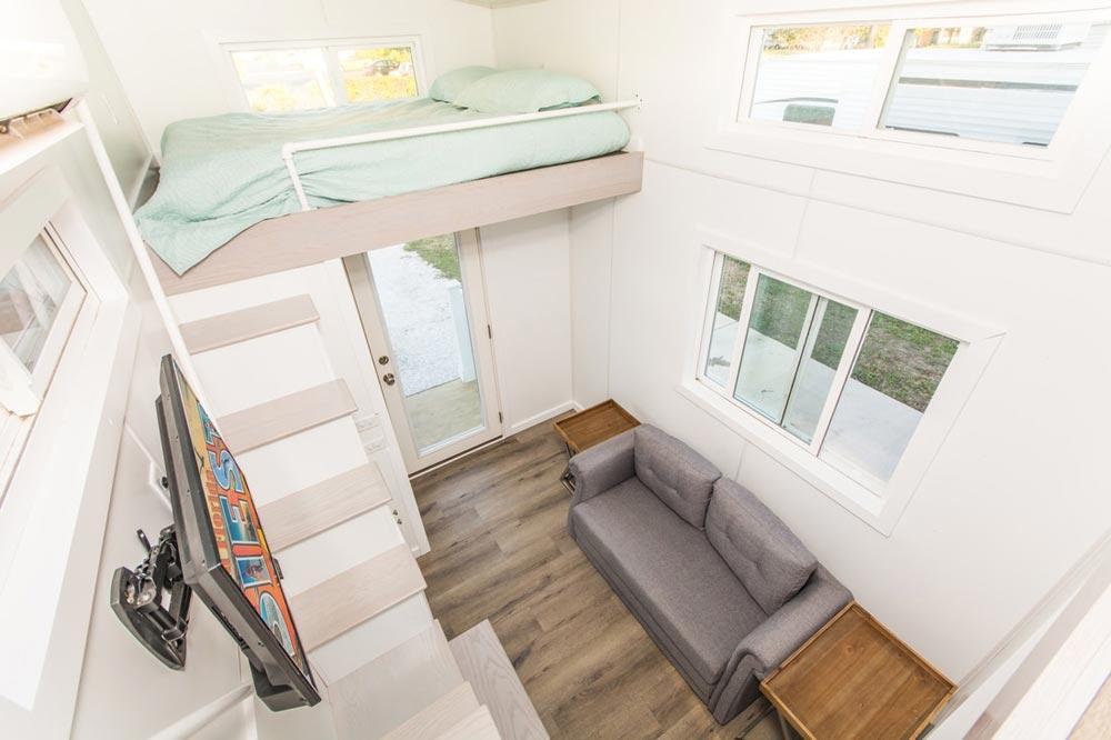 Living Room w/ Sofa Bed - Aqua Oasis by Modern Tiny Living