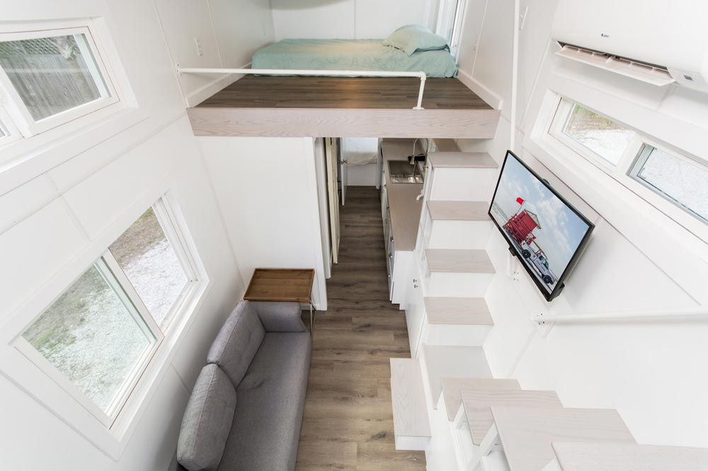 View From Loft - Aqua Oasis by Modern Tiny Living