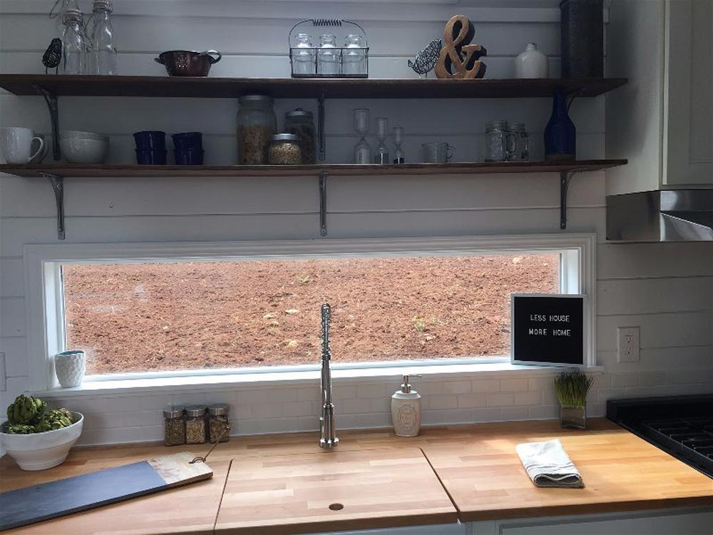 Kitchen Window - Texas Tiny House by Tiny Heirloom