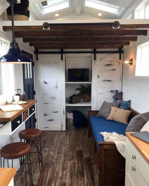 Breakfast Bar - Texas Tiny House by Tiny Heirloom