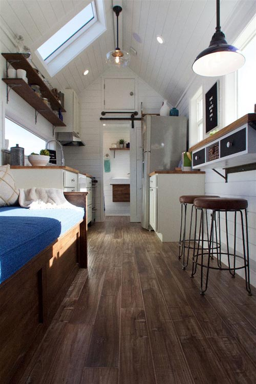 Hardwood Floors - Texas Tiny House by Tiny Heirloom