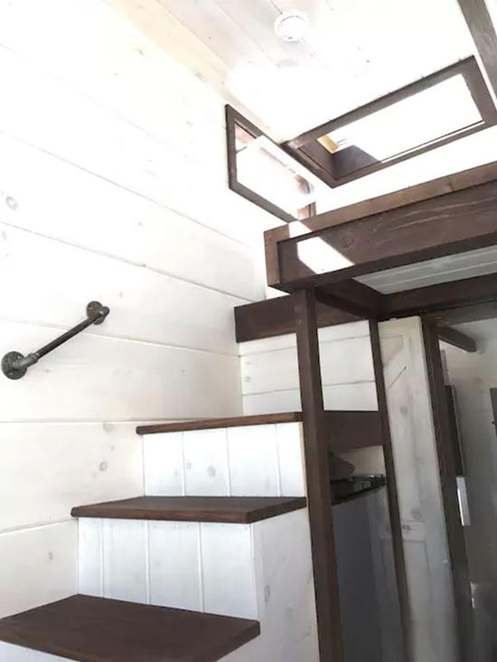 Loft Stairs - Texas Style by Incredible Tiny Homes