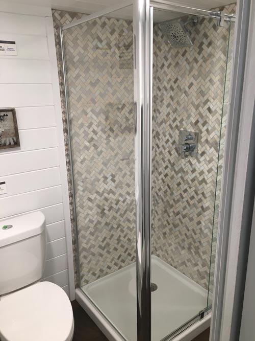 Tile Shower - Trinity by Alabama Tiny Homes
