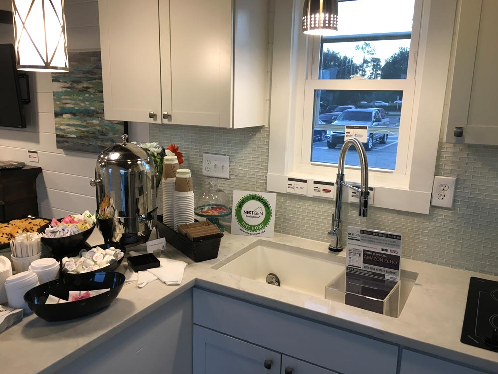 Kitchen with Upper Cabinets - Trinity by Alabama Tiny Homes
