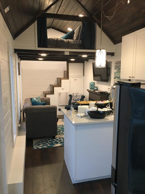 Kitchen & Living Room - Trinity by Alabama Tiny Homes