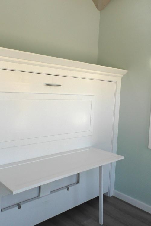 Desk Under Murphy Bed - Abott by Cornerstone Tiny Homes