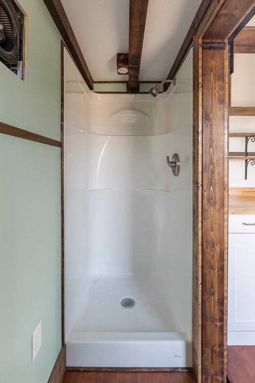 Shower Stall - Borough by Tiny House Chattanooga