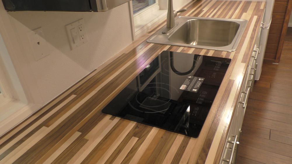 Electric Cooktop - California Cruiser by Cornerstone Tiny Homes