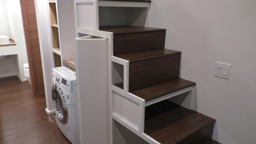 Storage Stairs - California Cruiser by Cornerstone Tiny Homes
