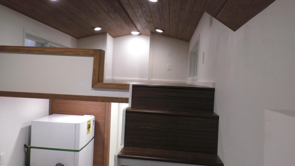 Stairs To Loft - California Cruiser by Cornerstone Tiny Homes