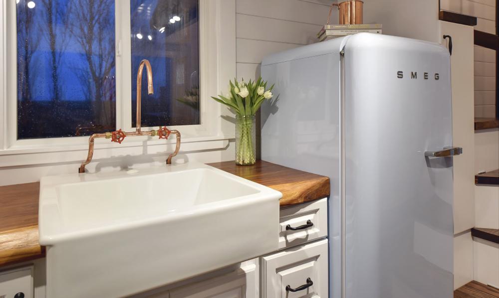 Sink & Fridge - Custom Tiny #4 by Mint Tiny Homes
