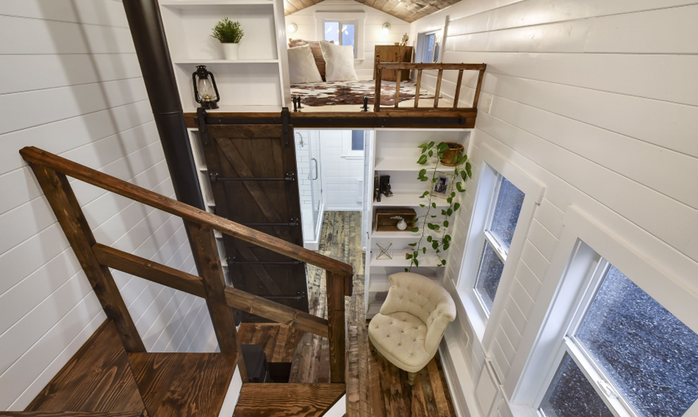View From Loft - Custom Tiny #4 by Mint Tiny Homes