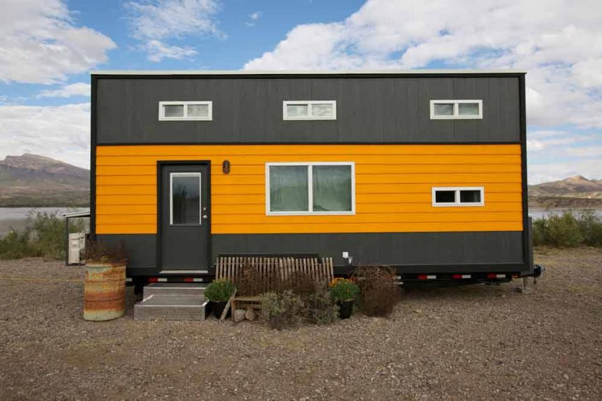 retro garage house by southwest tiny homes - Garage Homes