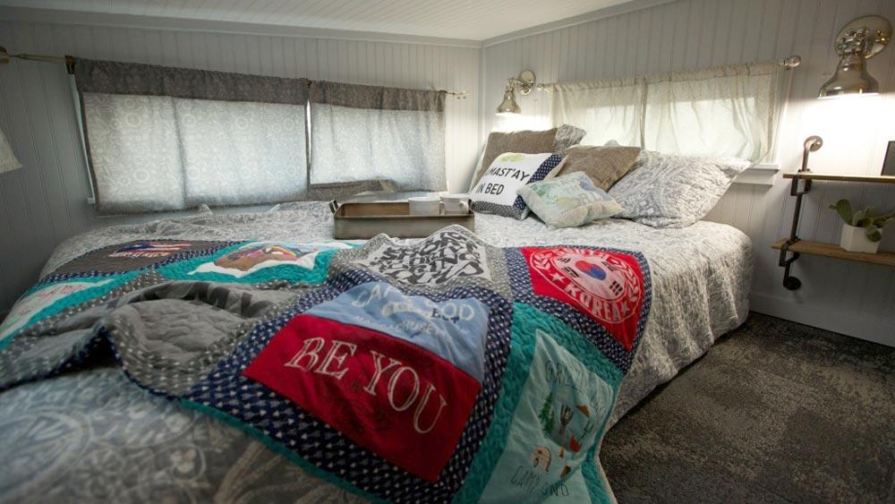 Parents' Bedroom Loft - Retro Garage House by Southwest Tiny Homes