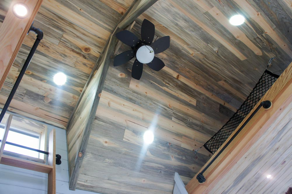 Blue Pine Ceiling - Kootenay Wine Tasting Room by TruForm Tiny