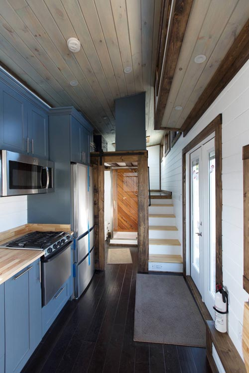 Kitchen & Stairs - Lookout v2 by Tiny House Chattanooga