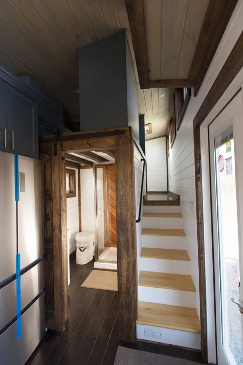 Bathroom & Stairs - Lookout v2 by Tiny House Chattanooga