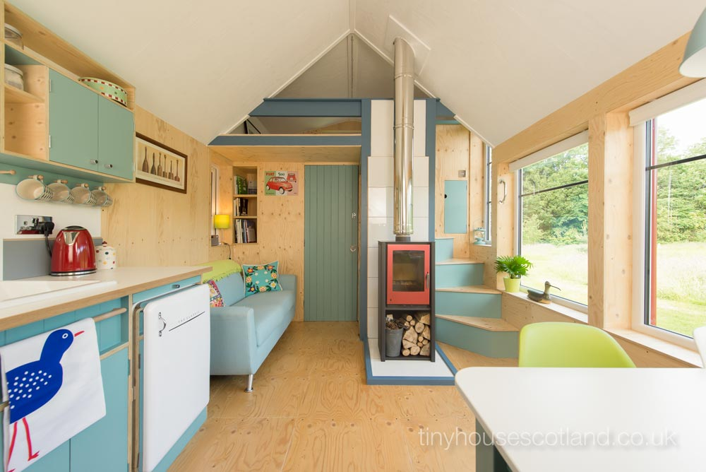Wood Burning Stove - NestHouse by Tiny House Scotland