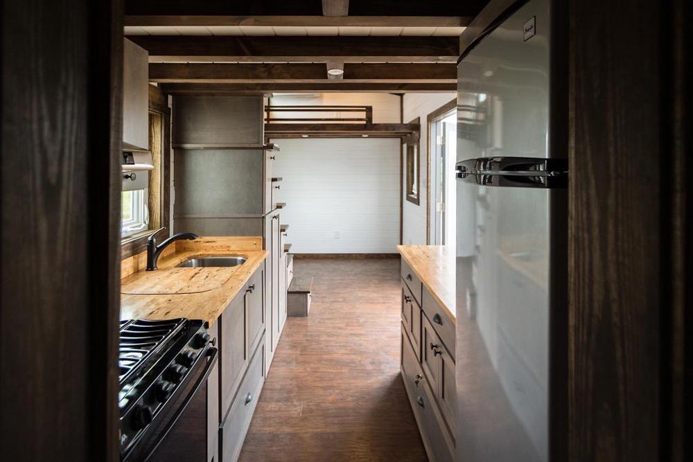 Kitchen & Living Area - Outlander by Tiny House Chattanooga