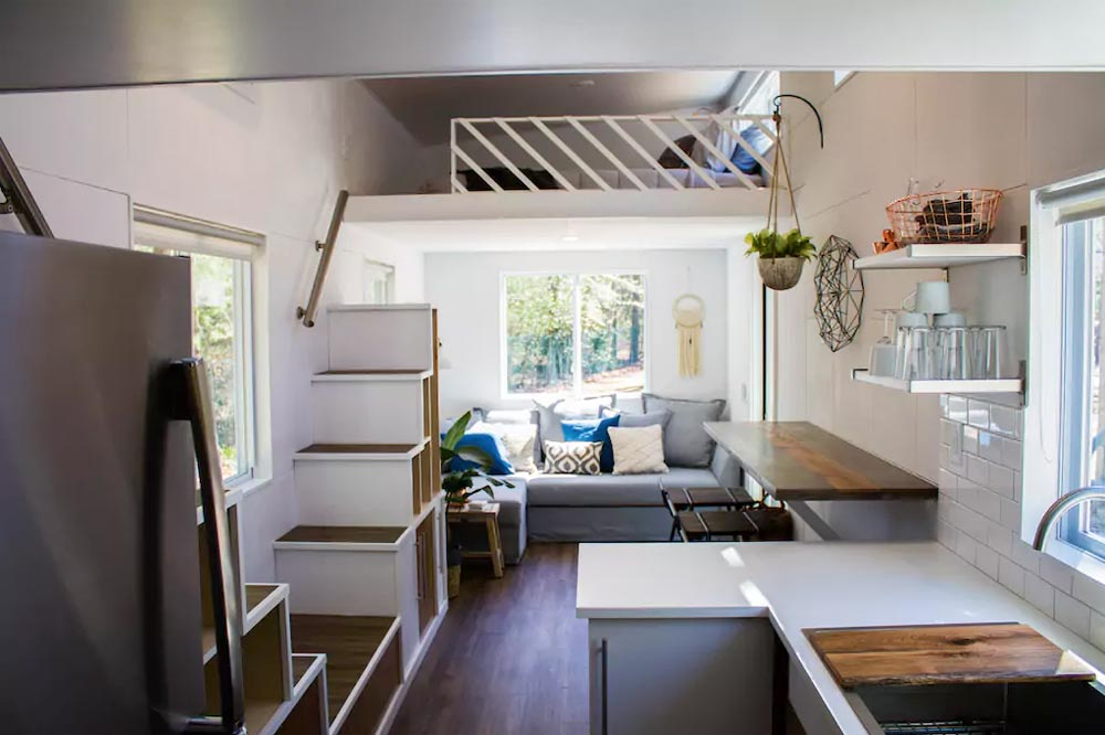 Living Room & Kitchen - River Resort by Liberation Tiny Homes