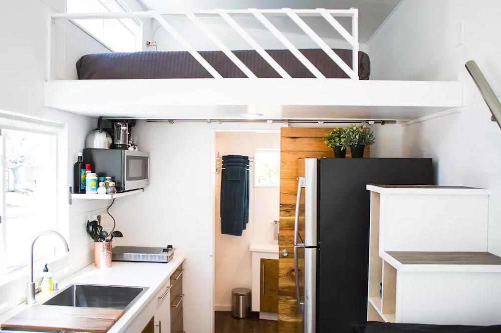 Kitchen & Loft - River Resort by Liberation Tiny Homes