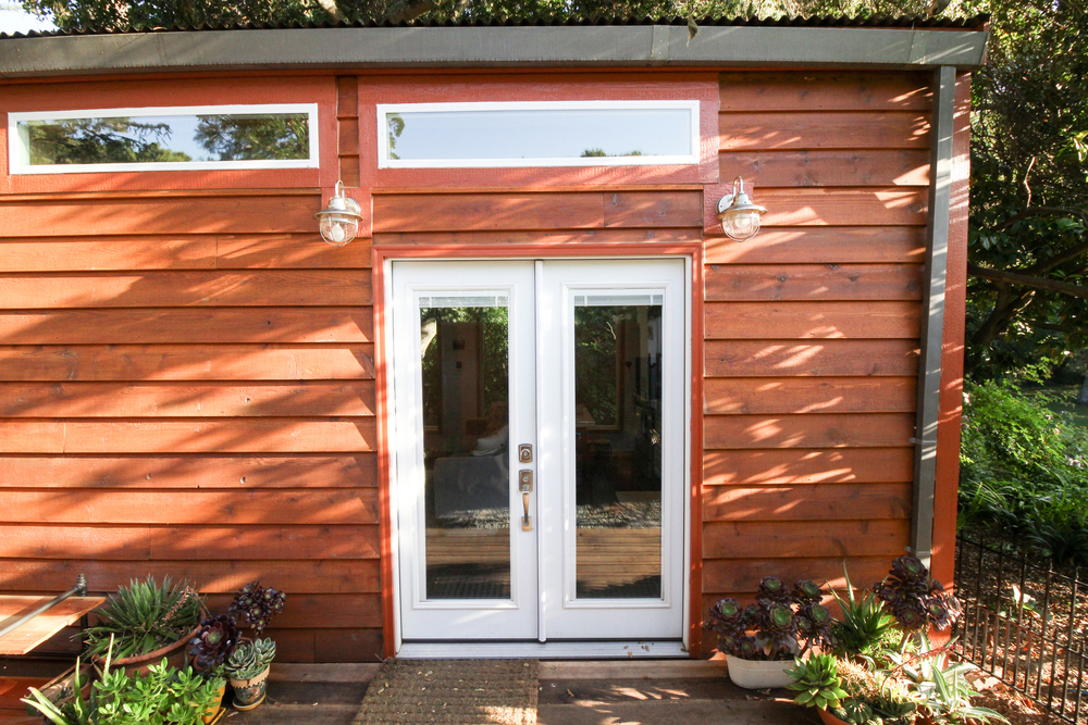 French Doors - Urban Cabin by Portable Cedar Cabins
