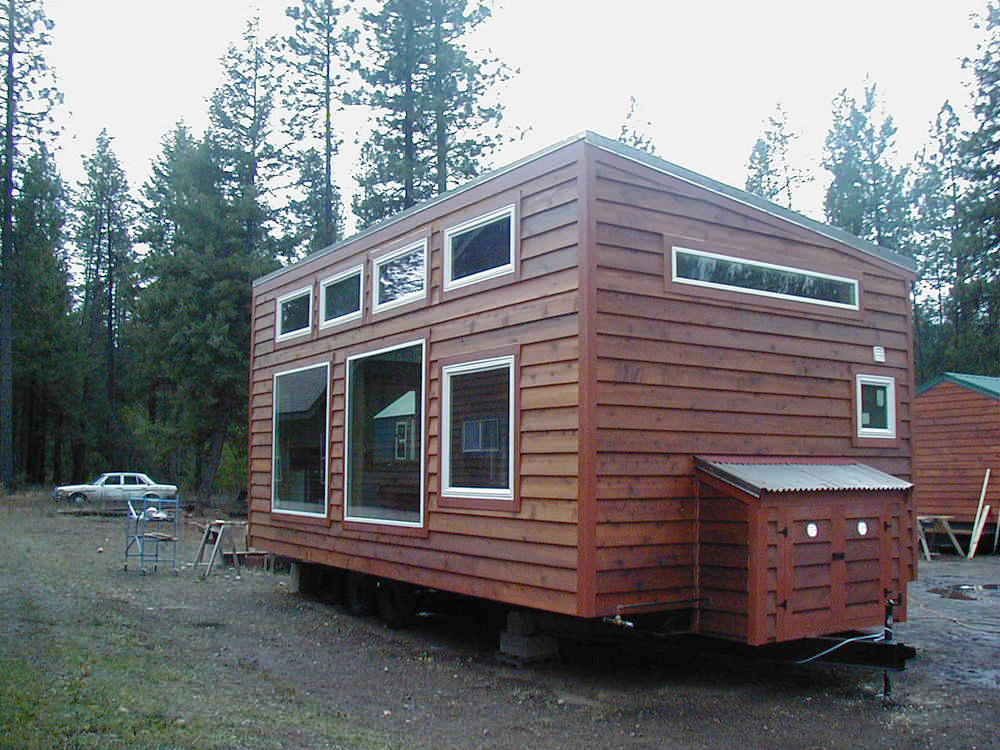 Large Windows - Urban Cabin by Portable Cedar Cabins