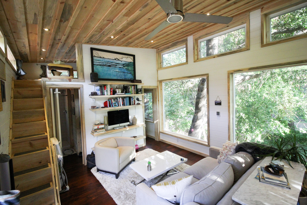 Living Area - Urban Cabin by Portable Cedar Cabins