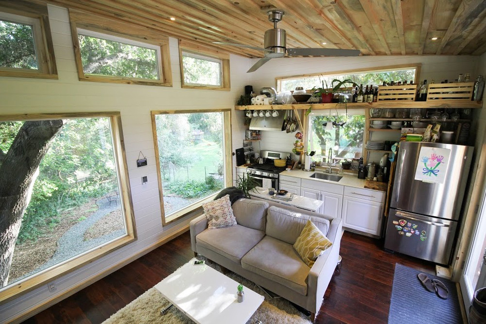 Kitchen & Living Area - Urban Cabin by Portable Cedar Cabins
