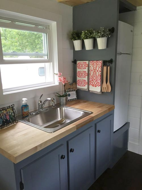 Butcher Block Counters - Wanigan by Burrow Tiny Homes