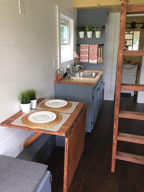 Fold Down Table - Wanigan by Burrow Tiny Homes