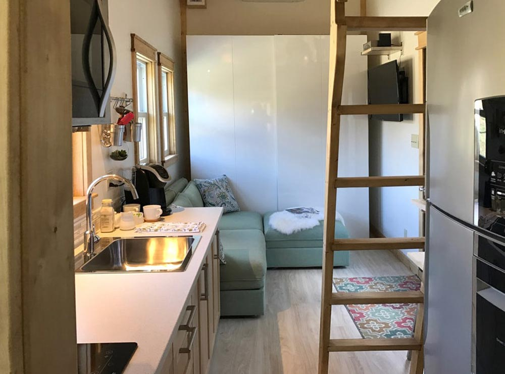 Kitchen & Living Room - Amsterdam by Transcend Tiny Homes