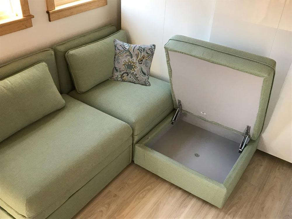 Sofa Storage - Amsterdam by Transcend Tiny Homes