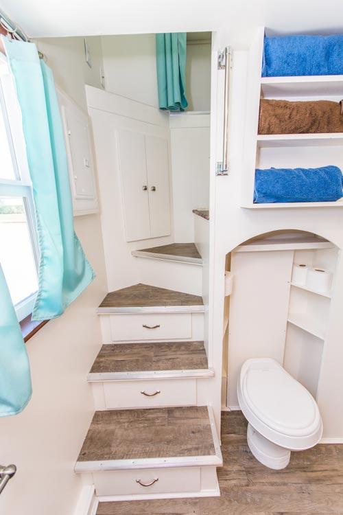 Bedroom Loft Stairs - Amy at Tiny Siesta