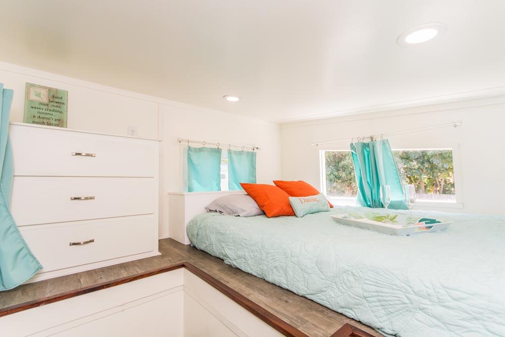 Bedroom Loft Storage - Amy at Tiny Siesta