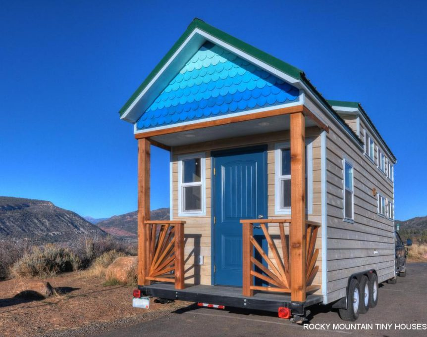 Ol' Berthoud Blue by Rocky Mountain Tiny Houses