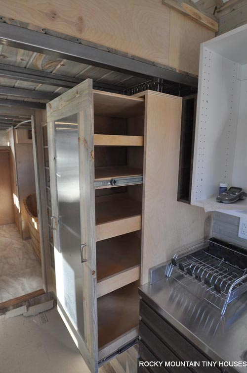 Slide-Out Pantry - Ol' Berthoud Blue by Rocky Mountain Tiny Houses
