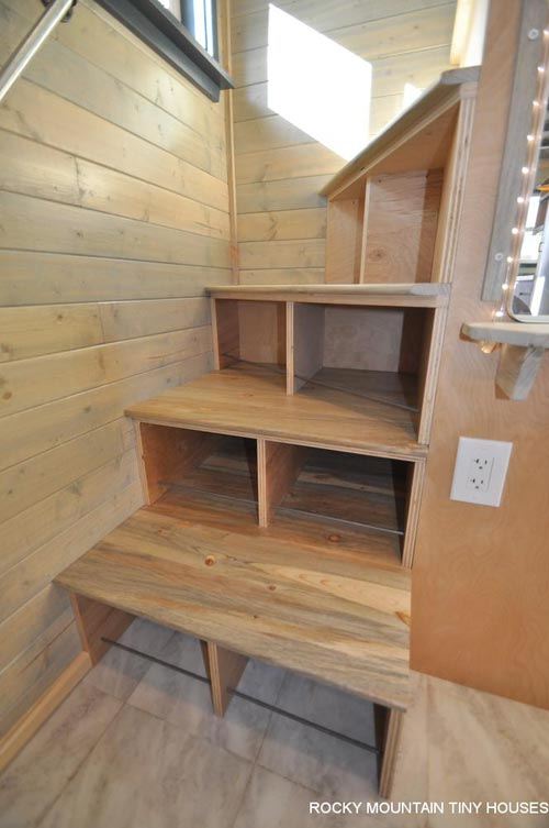 Winder Staircase - Ol' Berthoud Blue by Rocky Mountain Tiny Houses