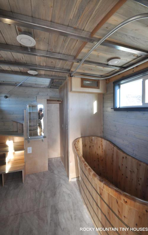 Alfi Cedar Tub - Ol' Berthoud Blue by Rocky Mountain Tiny Houses