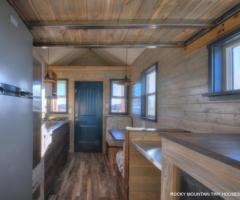Metal Loft Beams - Ol' Berthoud Blue by Rocky Mountain Tiny Houses