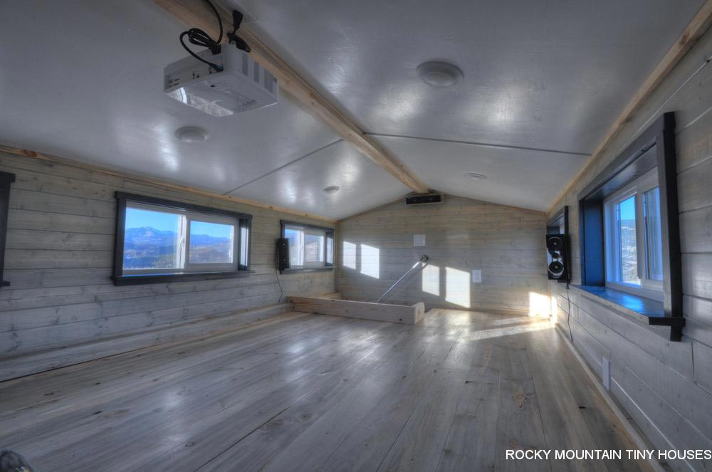 Loft with Projector - Ol' Berthoud Blue by Rocky Mountain Tiny Houses