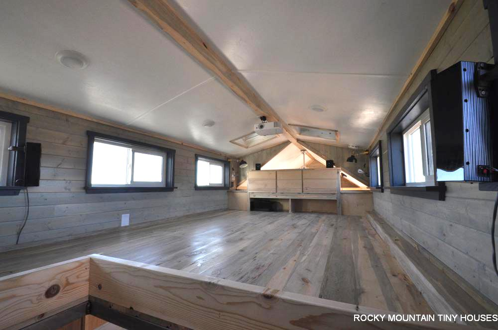 Large Bedroom Loft - Ol' Berthoud Blue by Rocky Mountain Tiny Houses