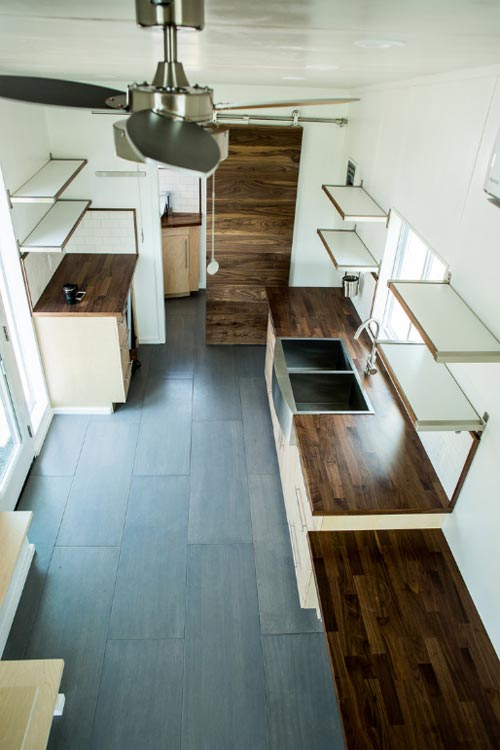 Kitchen & Desk - Big Blue by Liberation Tiny Homes