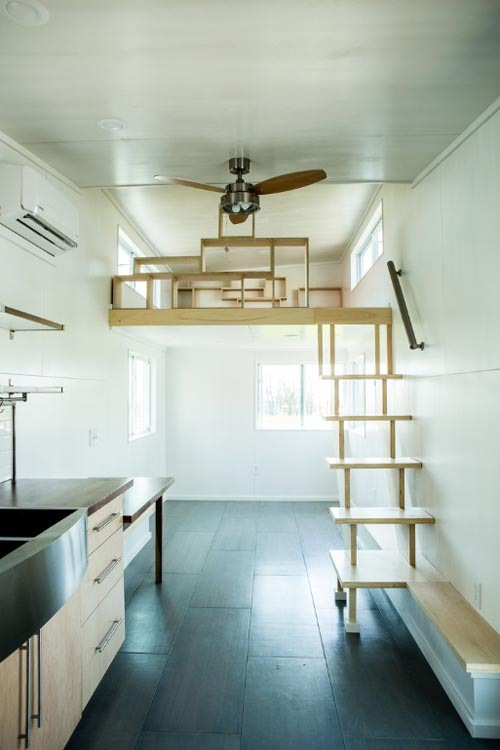 Loft Stairs - Big Blue by Liberation Tiny Homes
