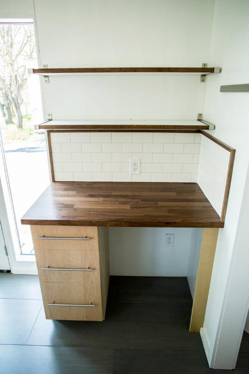 Walnut Desk - Big Blue by Liberation Tiny Homes