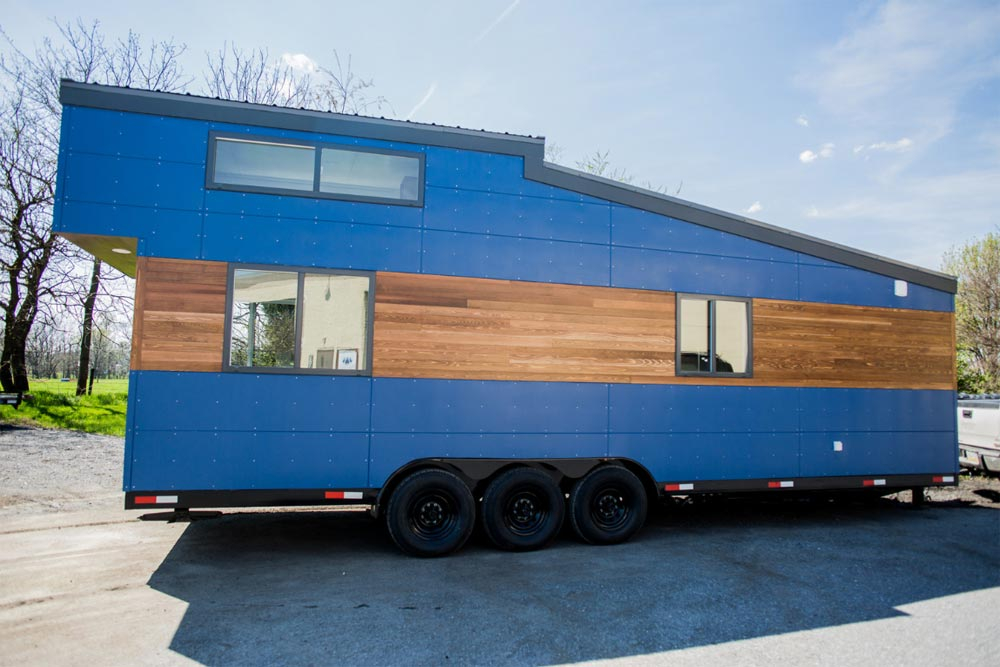 AZEK Siding - Big Blue by Liberation Tiny Homes