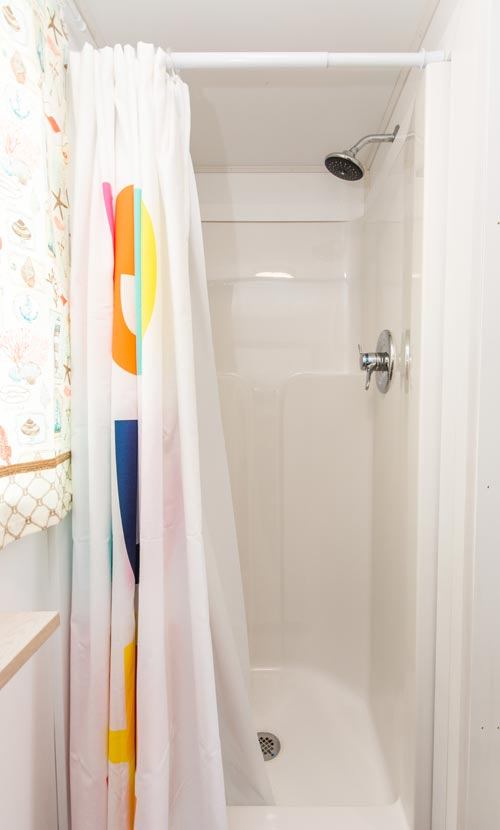 Shower Stall - Blue Oasis at Tiny Siesta
