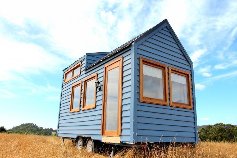 Australian Tiny House - Colonial Blue by Wagonhaus