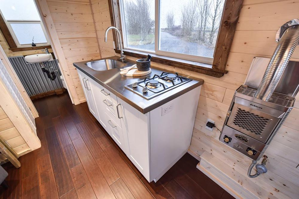Stainless Steel Counter - Custom Napa by Mint Tiny Homes